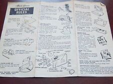 Munro hockey assembly instructions ,rules ,parts 1973 Servotronics # 3
