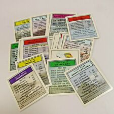 Monopoly Surfing Edition Replacement Board Game Cards Property Lot of 22