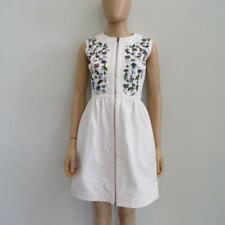 NWT Christian Dior Pink Cotton Floral Beaded Denim Dress 34/US 0/2 $2700
