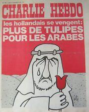 CHARLIE HEBDO No 156 NOVEMBRE 1973 GEBE  PLUS DE TULIPES POUR LES ARABES