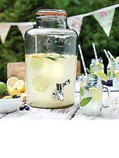 8 Litre Large Kilner Clip Top Storage Glass Drink Juice Dispenser Jar With Tap