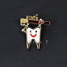 5pcs Dental Clinic Gift Metal Tooth Type Molar Brooch Dentist HYGIENIST PIN