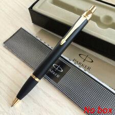 Parker IM Series Ballpoint Pens Matte Black Color Golden Clip 0.5mm Fine Nib