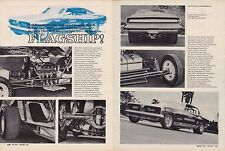 1969 HEMI BARRACUDA FUNNY CAR / CHRIS KARAMESINES ~ ORIGINAL 2-PAGE ARTICLE / AD
