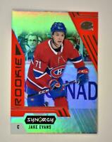 2020-21 UD Synergy Red Bounty Code Rookie #116 Jake Evans RC - Montreal Canadien