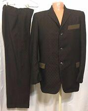 """Vintage 1963 Harry Hyman Suit Mod New Orleans Dated Mens 42 Pants 30"""""""