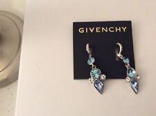 $48 Givenchy Swarovski Blue Dangle Earrings Item # 136 D GE