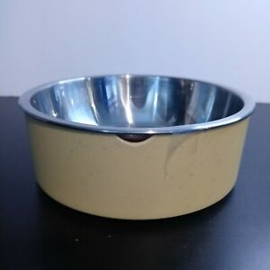 Boots & Barkley Speckle Melamine Dog Bowl Small Yellow 13 0z