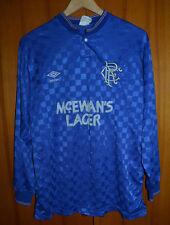 GLASGOW RANGERS SCOTLAND 1988/1989/1990 MATCH WORN FOOTBALL SHIRT JERSEY #6