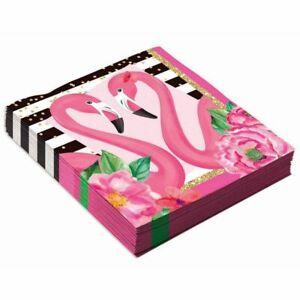 Flamingo Pink Tropical Bird Summer Luau Theme Party Paper Luncheon Napkins