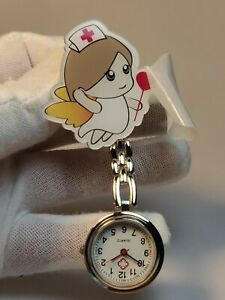 Fairy Nurse Midwife Fob Pocket Watch