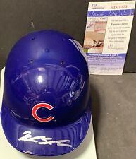 Kyle Schwarber Chicago Cubs Autographed Signed Mini Helmet JSA Sig Debut COA
