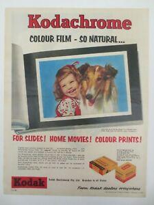 Vintage Australian advertising 1959 ad KODAK KODACHROME FILM photo album art