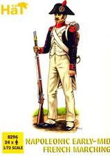 HaT Miniatures 1/72 NAPOLEONIC EARLY- MID FRENCH MARCHING Figure Set