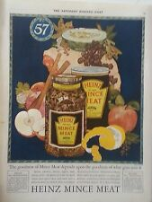 1924 Heinz Mince Meat Spices Currants Raising apples Beef Citron Cider Food Ad