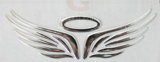 Silver 3D Guardian Angel Wings Car Emblem Decal Sticker Truck Van Logo Decal