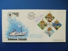 1986 OPERATION RALEIGH SOLOMON ISLES COVER SIGNED BY CLAIRE RAYNER