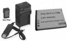 LI-70B LI70B Battery + Charger for Olympus D710 D-700 D-715