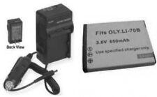 LI-70B LI70B Battery + Charger for Olympus D710 D-700 D-715