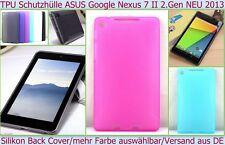 BUMPER CASE GUSCIO TPU COVER Asus Google Nexus 7 LTE TAB 2013 Custodia Protezione Pellicola
