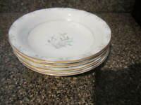 Noritake Nicole Wheat Pattern Fine China 7 1/2 Inches Bowls Set of 4