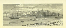 View of Savannah,GA   1872 by Harry Fenn genuine antique small but beautiful