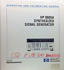HP 8665A Synthesized Signal Generator Operation & Calibration Manual 08665-90026
