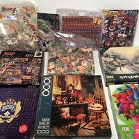 🧩Springbok HUGE Puzzle Lot 10x - 1000 500 etc Piece Jigsaw Puzzle🧩