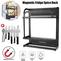 Magnetic Rack Organizer Spice Storage Shelf Kitchen Refrigerator Holder Tool 2T