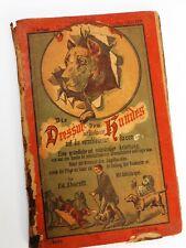 1800 era Berlin Germany Dog Book Trick Training Great Dane Whippet Poodle Hunde