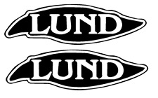 "PAIR OF 4.5"" X 13.5"" LUND BOAT HULL DECALS MARINE GRADE. YOUR COLOR CHOICE."