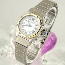 Elegante Armbanduhren mit Edelstahl Cartier Santos