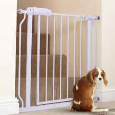Walk Through Baby Gate Stair Security Infant Toddler W/Door Pet Fence Extension