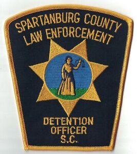 Spartanburg County law Enforcement Detention Officer Patch South Carolina SC