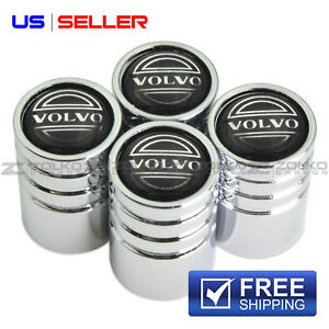 VOLVO VALVE STEM CAPS WHEEL TIRE CHROME - US SELLER VE59