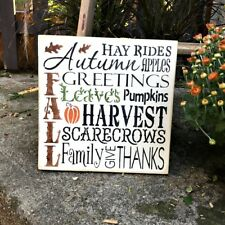 Fall Harvest Wooden Sign ~ Autumn Decor ~ Typography Sign ~ Fall Decor ~ Harvest