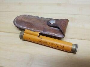Kuker-Ranken Inc. Hand Level Orange ( w/ Leather Sheath ) Vintage chipped