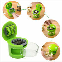 New Easy Garlic Press Chopper Slicer Hand Presser Garlic Grinder Crusher Tool