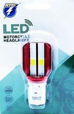 1x LED BULB BA20d 35/35W S2 12V Hi/Lo Motorcycle Headlamps COB 1800 LUMENS