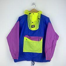 K-WAY 1980 vintage color block raincoat