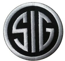 VELC: SIG Sig Sauer Firearms Black Silver Embroidered  Tactical  Military Patch