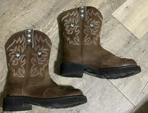 Ariat Womens ProBaby 10001132 Brown Leather Cowboy Western Boot Pull On Size 6.5