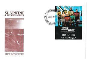 St. Vincent ( Star Trek ) Souvenir Sheet First Day Cover