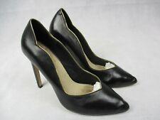 "Ladies Black Leather 4.5"" Stiletto Heel Court Shoe by Lotus Hallmark UK 4 EU 37"