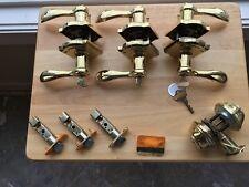 BALDWIN Brass Door Hardware -  7 Lever Sets and 1 Deadbolt