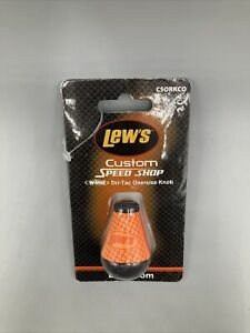 Lew's CSORKCO Oversize Custom Speed Handle Knob, Dri-Tac Oversize ORANGE Knob