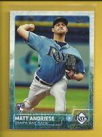 Matt Andriese RC 2015 Topps Update Series Rookie Card # US34 Rays Baseball MLB