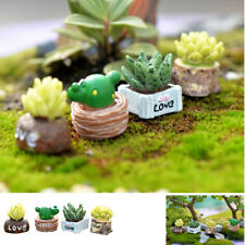 Mini Decorative Lifelike Artificial Fleshy Cactus Plant Landscape Bonsai Resin