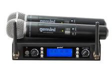 Gemini UHF-6200M Dual Channel Handheld UHF Wireless System UHF6200M - MINT!
