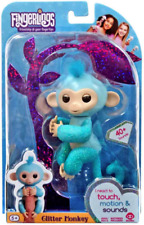 Fingerlings Limited Edition Baby Monkey Amelia Blue Glitter Usa New